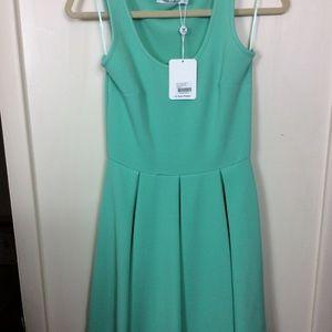 White Mark Brand Mint Green Sleeveless Dress Small
